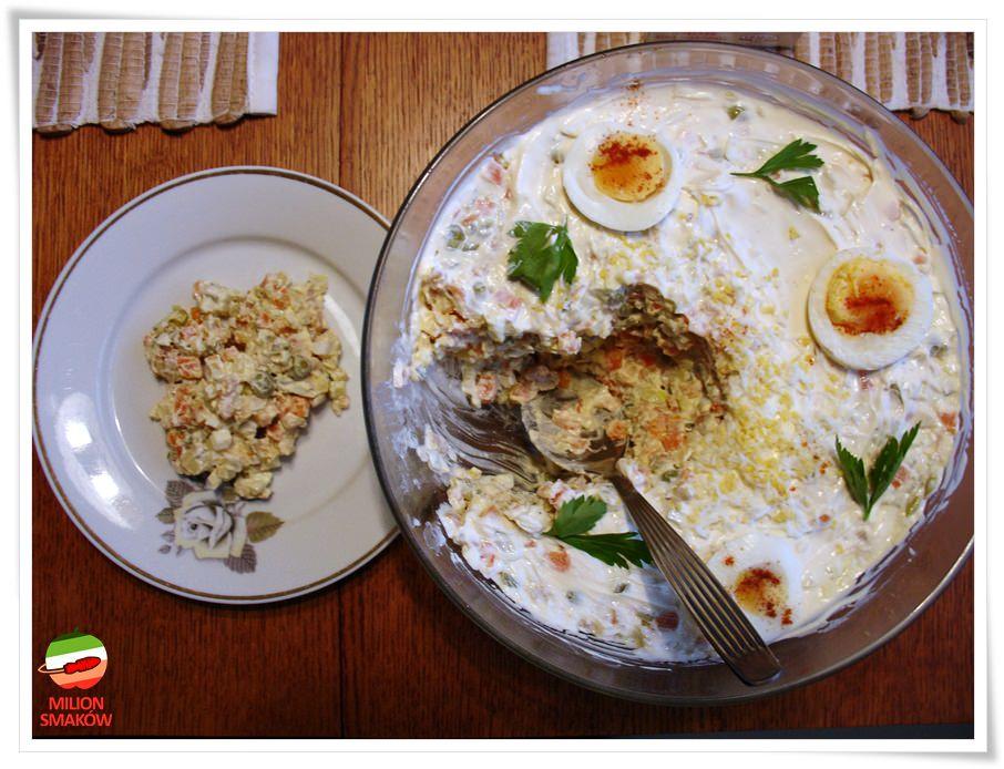 Tradycyjna Salatka Warzywna Tradycyjna sa Atka Jarzynowa Przepis